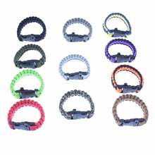 2017 new Whistle Cut rope Bracelet Outdoor survival Hand Strap accessories Camping on foot(China)