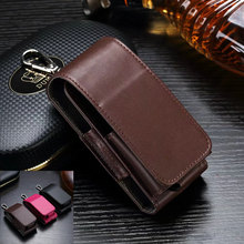 Support Waist Loop Belt Case Clip Retro PU Leather Pocket Holder w/ Key Ring Case for IQOS Electronic Cigarette I II(China)
