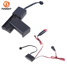 POSSBAY 1x For 5M Chasing EL Wire Dance Bar Party Decor Inverter Cigarette Lighter Black(China)