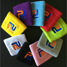 (10 pcs/lot) 100% cotton embroidery Sports Wristband,Tennis Badminton basketball Sweatbands,WRISTGUARD, Wrist Protector