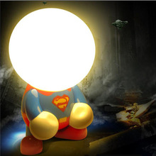 Transformers Geek Superman Batman LED Night Light Creative Cartoon Table Lamp USB Charger For Childern