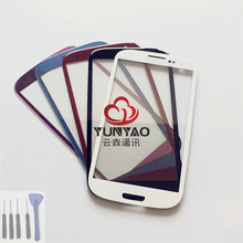 New Outer LCD Front Screen Glass Lens Cover Replacement Parts Lens For Samsung Galaxy S3 i9300 Touch Screen(China)