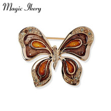 Magic Ikery High Quality Enamel Wing Brooches Butterfly Insect Brooch Pin For Women Fashion Jewelry Accessories YT-B678