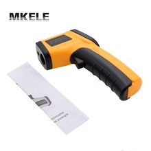 1Pcs GM320 Non-Contact Laser LCD IR Infrared Termometro Digital Surface Thermometer Use Thermal Imager Weather Station(China)