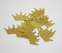 Gold Glitter Crown Confetti Princess Prince Birthday Decoration Party Supplies Table Scatter