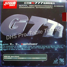 DHS G777 Pips-In Table Tennis / PingPong Rubber With Sponge for PingPong Bat
