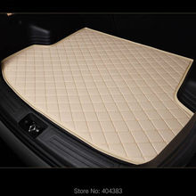 3D Custom fit car trunk mat for Honda Civic CRV City HRV Vezel Crosstour Fit car-styling heavey duty tray carpet cargo liner(China)