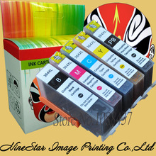 5 Color 364 XL Cartridge for HP Photosmart 7510 7520 B8550 B8553 C5380 8550 8553 5380 Ink Cartridge Europe With Chip E192(China)