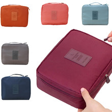 2017new Travel Cosmetic Makeup Toiletry Case Bag Wash Organizer Storage Pouch Handbag  zip lock bag cloth bag suitcase organizer