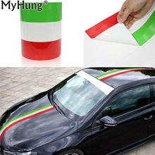 DIY Italy Flag Car Stickers Adhesive Vehicle PVC Wrap Body Sticker Fiat 500 BMW Benz Mazda Ford Audi VW Car-Styling 1M 2M 3M - Good Accessories Store store