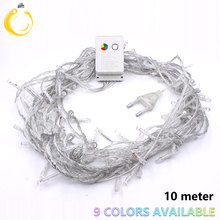 Lowest price 10M 100led string lights curtain icicle led fairy lights Christmas lamps Lights Decoration Wedding Xmas Party(China)