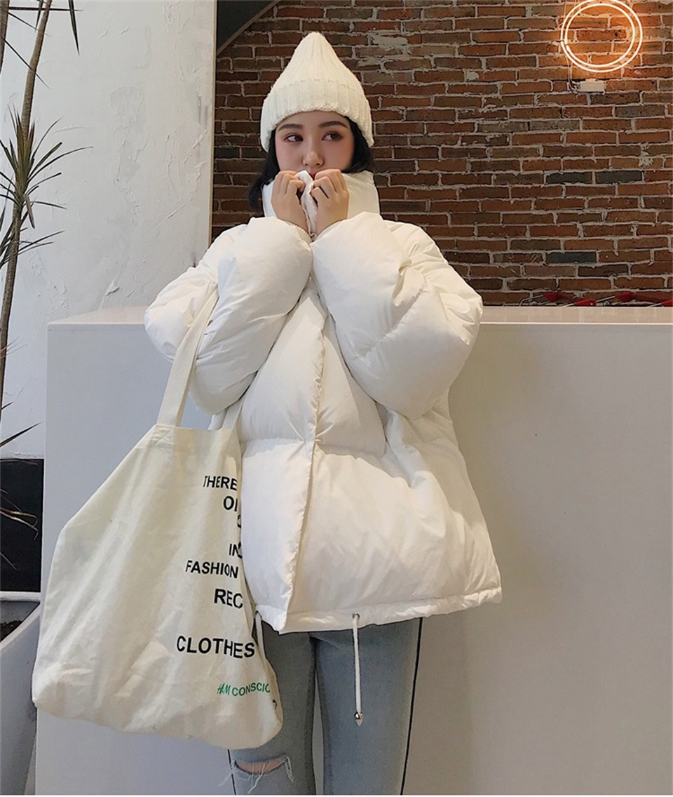 Autumn Winter Jacket Women Parkas Mujer 19 Fashion Coat Loose Stand Collar Jacket Women Parka Warm Casual Plus Size Overcoat 7