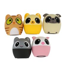 Ultra Mini Cartoon Cute Bluetooth Speaker Outdoor Music Bass Speakers Subwoofer Loundspeakers Support Phone Self Timer&Handsfree