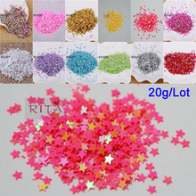 New Hot 20g 3mm Star Shape PVC loose Sequins Glitter Paillettes for Nail Art manicure/sewing/wedding decoration confetti(China)