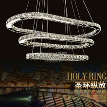 Modern Ellipse Crystal chandelier simply lamps For Diningroom Luxury Hotel rooms Entry Foyer lighting with GU10 Led lamp 9069-2(China)