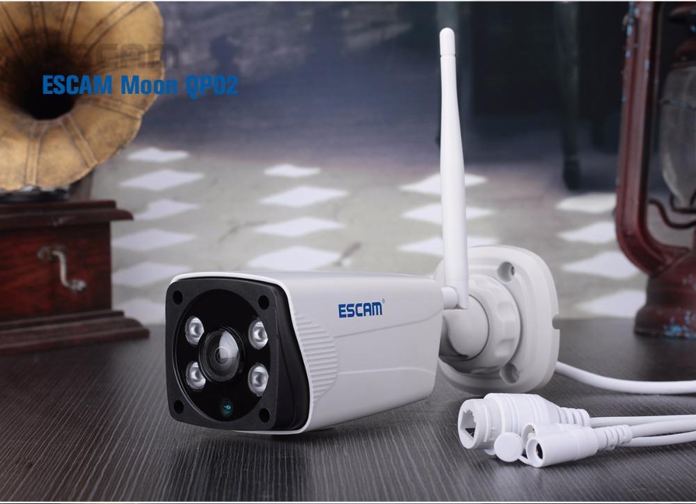 Escam Moon QP02 2MP HD 1080P WIFI Alarm Camera Outdoor Bullet IR-Cut 180 degree Security ip Camera Support Max 64G TF card (20)