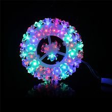 New in Store Multi Color 87 LED Tire String Lights Party Wedding Garden Outdoor Christmas Decor Lights For Home Christmas Decor(China)