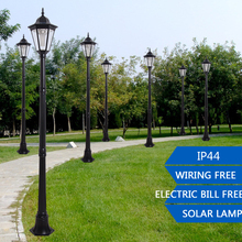 1.9m Outdoor LED Solar Garden Post Light Waterproof Pillar Lamp for Garden Decoration Path Park Landscape Lawn Yard Street Lamps(China)