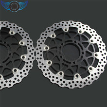 2 pieces of  motorcycle  Front Brake Discs Rotor for KAWASAKI ZX10R 1000CC model year 2008  2009 2010 2011 2012 2013 2014  DHL 8