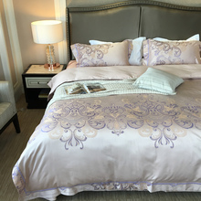 2017 France romantic jacquard floral luxury bedding sets queen king size duvet cover bed sheet set,bed set bed linen
