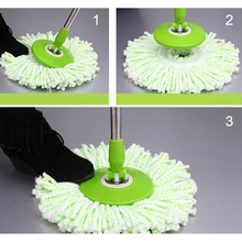 360 Rotating Head Easy Magic Floor Spin Mop Bucket Heads Micro Fibers Spinning fiber mop heads(China)