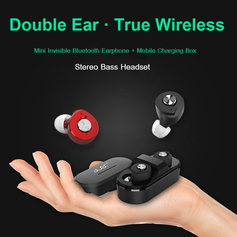 Mini Invisible Wireless Double In Ear Headset TWS T8 Bluetooth V4.1 HD Stereo Bass Music Headphones Sports Earphones With Mic<br><br>Aliexpress
