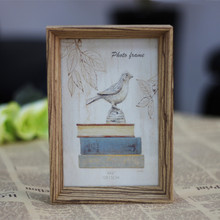 Retro Book Wooden Photo Frame Wood Natural Colour Picture Frames For Gifts Or Home Decor(China)