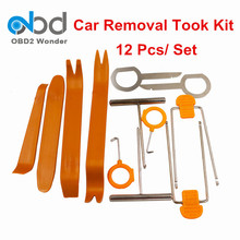 High Quality Plastic Car Remove Trim Set 12PCS Auto Car Removal Tool Universal Installing Dash Stereo Audio In Retailing Package(China)