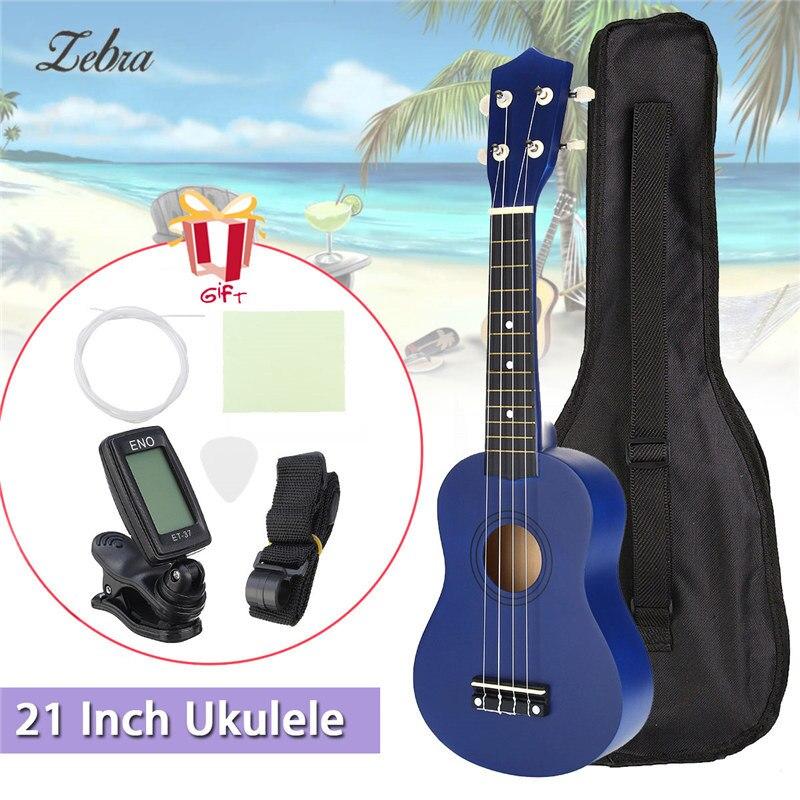 21 inch 12 Frets Soprano Ukulele Guitar Uke Sapele Basswood4 Strings Hawaiian Guitar +Tuner+ Free Bag for Beginners Basic Player<br>