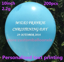 200pcs 10inch 2.2g Matte balloons personalized printing ballons for birthday wedding Christmas(China)