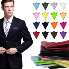 36 color Fashion Chic Men's Formal Suits Plain Solid Satin Pocket Square Handkerchief Wedding Party Gentlemen Men Hanky