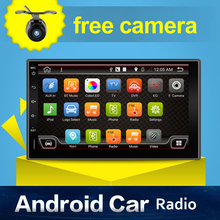 Android 4.4 Car GPS Stereo camera 2GHZ Quad 4-Core Capacitive Non-DVD 2 Din Car PC AUX BT WiFi 3G Radio Auto monitor Parking USB