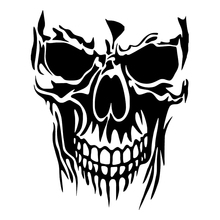 HotMeiNi Large Skull Die Cut Vinyl Notebook Decal Car Truck Windshield Bumper Sticker(China)