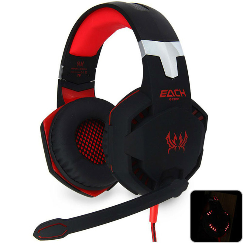 EACH G2100 Gaming Headset Stereo Bass Sound Vibration 2.2m Wired Headphone Vibration Headphone with microphone for computer PC<br><br>Aliexpress