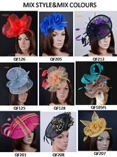 Mix styles  Ladies hat  Sinamay hat crin fascinator feathers fasinator silk flowers for Ascot,Kentucky Derby,wedding