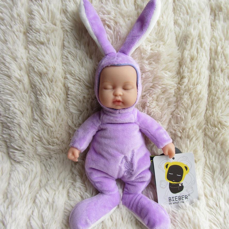 Wholesale Doll reborn baby vinyl bieber purple baby rabbit baby doll BERP006<br><br>Aliexpress