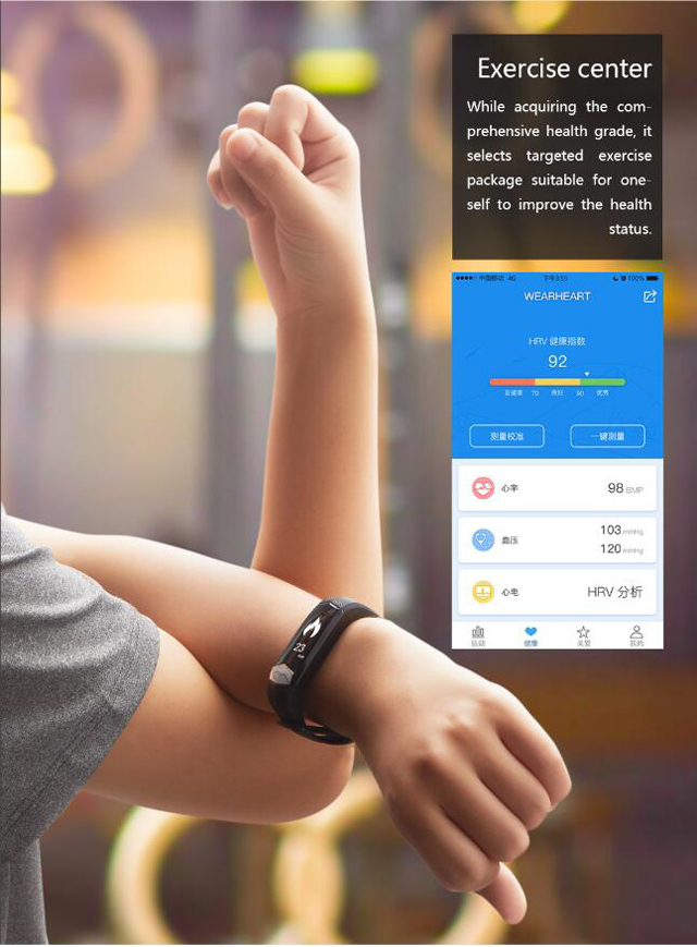 CD01 Graphene ECG HeartRate Blood Pressure Smart Bracelet for iphone Android Sleep Pedometer Activity Tracker Call SMS Reminder 11