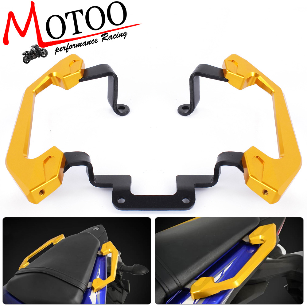 Motoo - High Quality Pillion Passenger Grab Rail Handle of Rear Grab Bars Rear Seat For Yamaha YZF R3 2013-16<br>