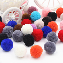 25mm 5PCS Christmas hat decoration Children's educational toys Manual materials wholesale Multicolor high quality cashmere ball