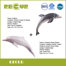 2 Pcs/Lot Recur Chinese White Dolphin+Dolphin Marine life Model High Simulation PVC Toy Hand Painted Action Figures Soft Toys(China)