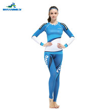 WFL-5LB / Best Sell Women Tight Set Girls MTB Clothes Skinny Bicycle Wear Yoga Fitness MMA Gym Running Sports Skinny Jersey(China)