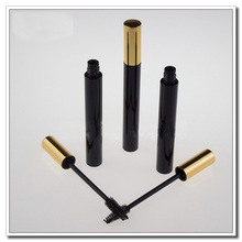8ml empty mascara tube suppliers, buy empty mascara tubes, empty mascara cosmetic packaging with gold lid brush