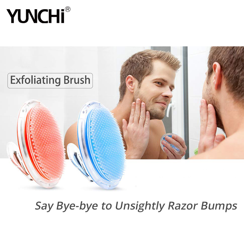 Exfoliating Shower Brush Hair Massage Comb Scalp Massager Ingrown Hair and Razor Bump Treatment Body Scrub Tool for Man & Woman