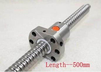 Ballscrew SFU1605 Pitch 5 mm Length 500 mm with Ball nut CNC 3D Printer Parts<br>