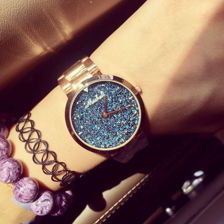 Band Wristwatches Quartz-Watches High-Grade Womens Watches Tassel bracelet Full Of Diamond Dial Bracelet Watch Star<br><br>Aliexpress
