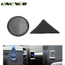 Mini Anti-Slip Car Pad Dashboard Mat Sticky Gel Pad Non-Slip Mounting Pad for Phone Sunglasses Keys Coins(China)