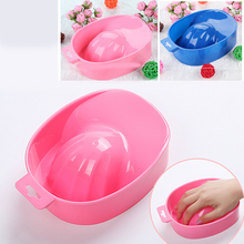 Random Colors 1pc Pro Nail Art Hand Wash Dirty Remover Soak Bowl DIY Salon Nail Spa Bath Treatment Manicure Tools(China)