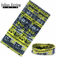 Julius Erving 100% Polyester Microfiber Tubular Bandana Neck Scarf Fashion Luxury Skull Head Bandana Men Face Mask Unisex