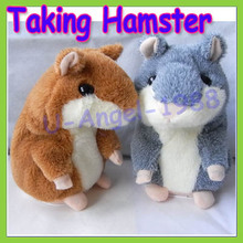 Russian Talking hamster wooddy time stuffed animal toys speaking kid Toy repeat what u said in any language Drop free Shipping
