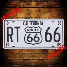 [ Mike86 ] Wholesale California Route 66 Retro RT66 License Plate Vintage Art  wall decor House Bar Cafe D-70 mix order 30*15 CM